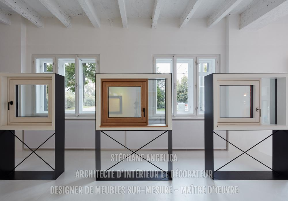 Mobilier showroom sur mesure